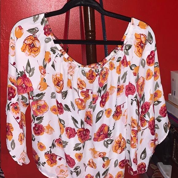 Charlotte Russe Tops - Off The Shoulder Blouse Floral